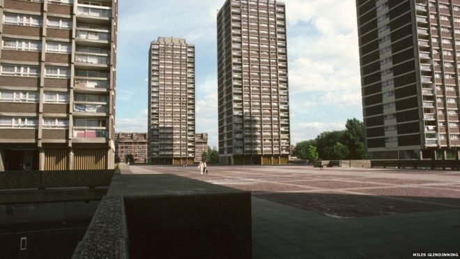 wide angle shot of Nightingale estate